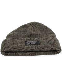 Levi's Bonnet Levis 232397 00014 CROPPED BEANIE - Vert