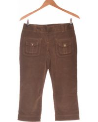 Promod Pantacourt Femme 36 - T1 - S Pantalon - Vert