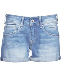 Pepe Jeans Shorts Siouxie - Blu