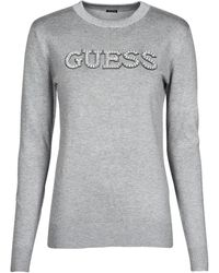 Guess ELVIRE RN LS SWTR Pull - Gris