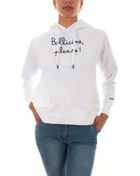 Mc2 Saint Barth HOODED COTTON SWEATSHIRT EBIP01 Sweat-shirt - Blanc