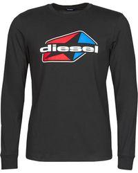 DIESEL T-shirt Lange Mouw T-diegos - Zwart