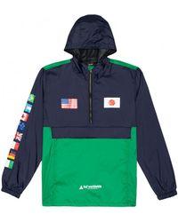 Huf Windjack Jacket Flags Anorak - Blauw