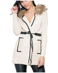 Infinie Passion - Beige Thick Coat 00w060741 Women's Coat In Beige - Lyst