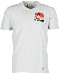 Franklin & Marshall - Germoli Men's T Shirt In Grey - Lyst