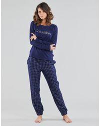 Calvin Klein PANT SET Pyjamas / Chemises de nuit - Bleu