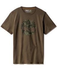 Timberland - Logo arbre camouflage T-shirt - Lyst