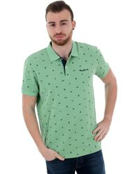Pepe Jeans PM541210 SERGIO - 625 ABSYNTH Polo - Vert