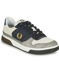 Fred Perry Lage Sneakers B300 Leather / Suede / Poly - Grijs