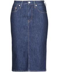 Levi's Rok Levis Slide Slit Skirt Juniper Ridge - Blauw