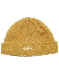 Obey Mütze Rollup beanie - Gelb