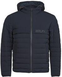 Tommy Hilfiger Piumino Stretch Hooded Jacket - Blu
