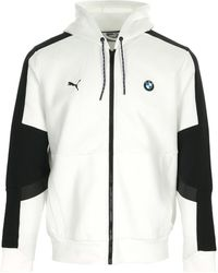 PUMA Sweater Bmw Mms Hooded Sweat Jacket - Wit