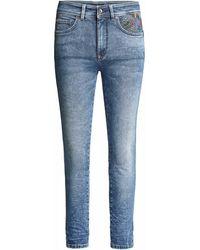 Salsa Jean Secret Glamour Push In Capri Jeans - Bleu