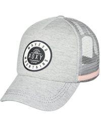 Roxy - Dig This - Gorra Trucker Para Mujer Erjha03400 Sgrh Women's Cap In Grey - Lyst