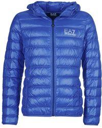 EA7 Abrigo de plumas ANDOURALO - Azul