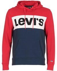 Levi's - Levis Colorblock Hoodie Men's Sweatshirt In Blue - Lyst