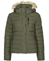 Superdry Donsjas Classic Faux Fur Fuji Jacket - Groen