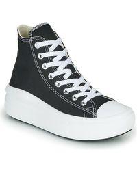 Converse Zapatillas hi-top negras con plataforma Chuck Taylor - Negro