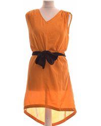Sisley Robe Courte 34 - T0 - Xs Robe - Orange