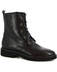Leonardo Shoes 4758SASHA VITELLO NERO Bottes - Noir