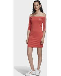 adidas - Robe Off-the-Shoulder Robe - Lyst