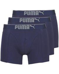 PUMA Boxers Lifestyle Sueded Cotton Boxer 3p Box - Blauw