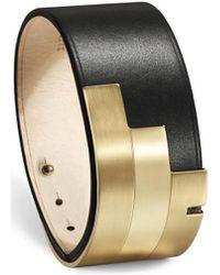 Ursul - Bracelet Additive Black / Gold Woman Autumn/winter Collection Women's Bracelet In Black - Lyst