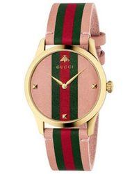 Gucci Horloge G-timeless Ya1264118 - Roze