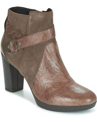 Geox - Inspiration Leather & Suede Boot - Lyst