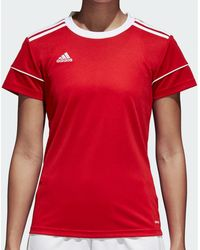 adidas T-shirt Korte Mouw Squadra 17 Ss Jersey Women - Rood