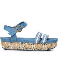 Desigual 19sssd04 Sandals - Blue