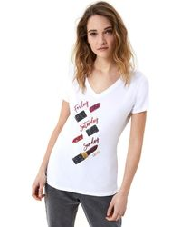 Liu Jo WA1270 J5003 T-shirt - Blanc