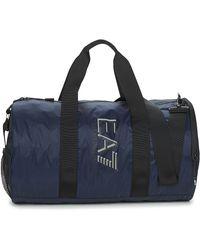 EA7 Sporttas Train Visibility M Gym Bag - Blauw