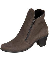 Arche - Castor Noir Hunter Double Laine Women's Low Ankle Boots In Brown - Lyst