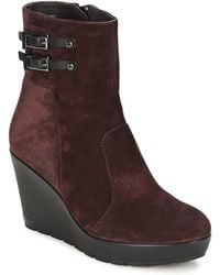 Stonefly - Janis Women's Low Ankle Boots In Red - Lyst
