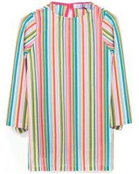 Mc2 Saint Barth Giselle Caftan Ray Multi Tunique - Multicolore