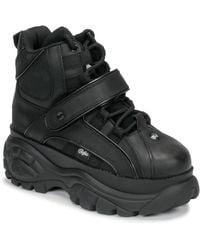 Buffalo Hoge Sneakers 1348 - Zwart