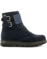 Byblos Blu - 6670k1 Ankle Boots Women Blue Women's Mid Boots In Blue - Lyst