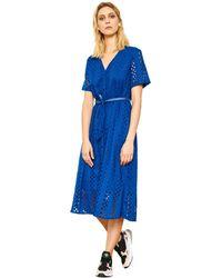 Mkt Studio Robe brodée à ceinture RUNILIN femmes Robe en bleu