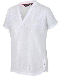 Regatta Blouses Femmes Jacinda à encolure en V - Blanc