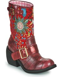 Irregular Choice GREAT ESCAPE Boots - Rouge