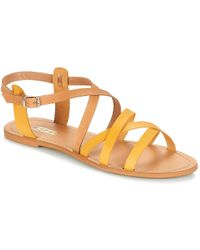 6d79a4ea026c Kate Spade Adagio Perf Gladiator Sandals Platino in Natural - Lyst