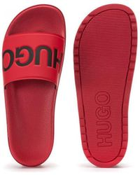 BOSS by Hugo Boss Claquettes Rouge Mules