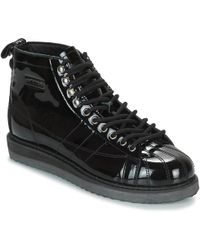 b2fa93038869 adidas - Superstar Boot W Women s Shoes (high-top Trainers) In Black -