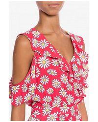 Moschino Daisy Georgette Dress Robe - Multicolore