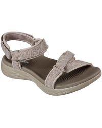 95f5a2951c85 Skechers - On The Go 600 Brilliancy 15316 Women s Sandals In Brown - Lyst