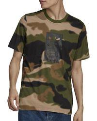 adidas Camiseta CAMOUFLAGE - Verde
