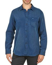 Façonnable - Permala Men's Long Sleeved Shirt In Blue - Lyst