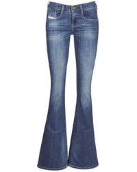 DIESEL Bootcut Jeans Ebbey - Blauw